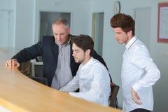 Οικοτροφείο για να είναι μπροστινός υπάλληλος γραφείων Στοκ εικόνα με δικαίωμα ελεύθερης χρήσης