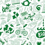 Οικολογία - άνευ ραφής υπόβαθρο Στοκ Εικόνες