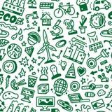 Οικολογία - άνευ ραφής υπόβαθρο Στοκ Εικόνα