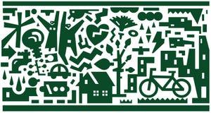 Οικολογία - διανυσματικό υπόβαθρο Στοκ εικόνα με δικαίωμα ελεύθερης χρήσης