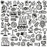 Οικολογία - doodles θέστε Στοκ εικόνα με δικαίωμα ελεύθερης χρήσης