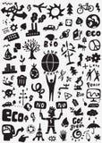 Οικολογία doodles Στοκ φωτογραφία με δικαίωμα ελεύθερης χρήσης