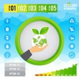 Οικολογία infographic και παρουσίαση διανυσματική απεικόνιση