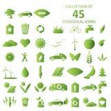 Οικολογικά εικονίδια Στοκ εικόνες με δικαίωμα ελεύθερης χρήσης