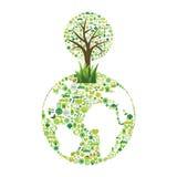 οικολογικά σύμβολα Στοκ φωτογραφία με δικαίωμα ελεύθερης χρήσης