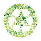 οικολογικά σύμβολα Στοκ εικόνα με δικαίωμα ελεύθερης χρήσης