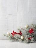 οικολογικός ξύλινος διακοσμήσεων Χριστουγέννων Στοκ Εικόνες