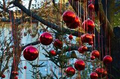 οικολογικός ξύλινος διακοσμήσεων Χριστουγέννων Στοκ εικόνα με δικαίωμα ελεύθερης χρήσης