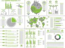 Οικολογικός πράσινος Infographic Στοκ εικόνα με δικαίωμα ελεύθερης χρήσης