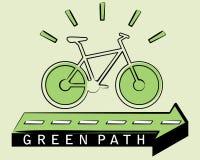 Οικολογικό ποδήλατο Στοκ Φωτογραφίες