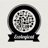 Οικολογικό σχέδιο μυαλού Στοκ φωτογραφία με δικαίωμα ελεύθερης χρήσης