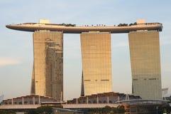 Οικοδόμηση άμμων κόλπων μαρινών της Σιγκαπούρης Στοκ Φωτογραφία