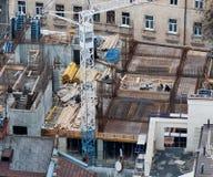 Οικοδόμηση ενός νέου κτηρίου στην παλαιά πόλη Στοκ Εικόνες
