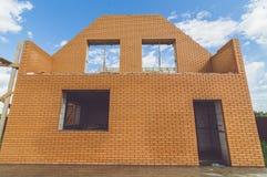 Οικοδόμηση ενός νέου σπιτιού στοκ φωτογραφία