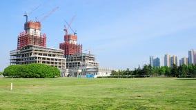 Οικοδόμηση ενός ουρανοξύστη αριθ. 1 Στοκ Εικόνα