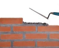 Οικοδόμηση ενός τοίχου. Στοκ Εικόνα