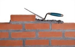 Οικοδόμηση ενός τοίχου. Στοκ φωτογραφία με δικαίωμα ελεύθερης χρήσης