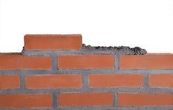 Οικοδόμηση ενός τοίχου. Στοκ Φωτογραφία
