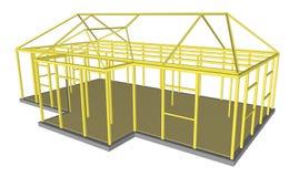 Οικοδόμηση εργαλείων και υλικών διαδικασίας κατασκευής Στοκ Εικόνες