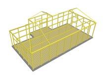 Οικοδόμηση εργαλείων και υλικών διαδικασίας κατασκευής Στοκ εικόνα με δικαίωμα ελεύθερης χρήσης