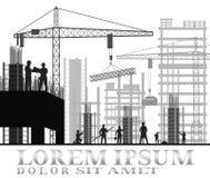 Οικοδόμηση κάτω από το εργοτάξιο οικοδομής Στοκ Εικόνα