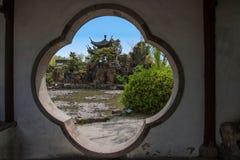 Οικοδόμηση κήπων της λεπτής δυτικής λίμνης Yangzhou Στοκ Εικόνα