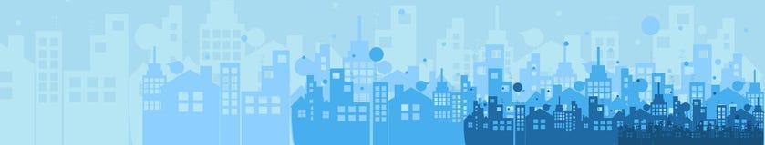 Οικοδόμηση και απεικόνιση πόλεων ακίνητων περιουσιών αφηρημένη ανασκόπηση