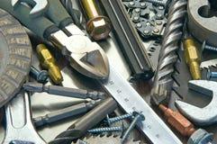 Οικοδόμηση και μέτρηση των εργαλείων Στοκ φωτογραφία με δικαίωμα ελεύθερης χρήσης