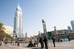 Οικοδόμηση κοντά σε Burj Khalifa Στοκ φωτογραφία με δικαίωμα ελεύθερης χρήσης