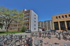 Οικοδόμηση κολλεγίων πανεπιστημιουπόλεων του πανεπιστημίου του Hokkaido Στοκ Φωτογραφία