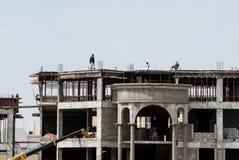 Οικοδόμηση κτηρίου στο Αμπού Ντάμπι Στοκ Φωτογραφίες