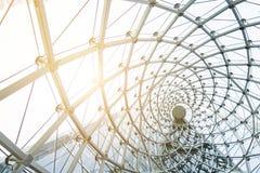 Οικοδόμηση κτηρίου του πλαισίου χάλυβα μετάλλων υπαίθρια Στοκ Φωτογραφία