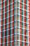 Οικοδόμηση κτηρίου, υλικά σκαλωσιάς με την ιταλική σημαία Στοκ εικόνες με δικαίωμα ελεύθερης χρήσης