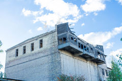 οικοδόμηση παλαιά Μπαλκόνια Woden Στοκ Εικόνες
