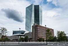 Οικοδόμηση της ΕΚΤ Ευρωπαϊκών Κεντρικών Τραπεζών στη Φρανκφούρτη Στοκ εικόνες με δικαίωμα ελεύθερης χρήσης