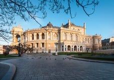 οικοδόμηση της ιστορικής όπερας Ουκρανία της Οδησσός σπιτιών Στοκ φωτογραφία με δικαίωμα ελεύθερης χρήσης