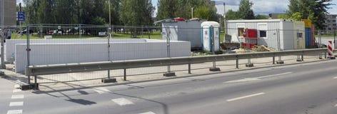 Οικοδόμηση της νέας υπόγειας διάβασης πεζών Στοκ φωτογραφία με δικαίωμα ελεύθερης χρήσης