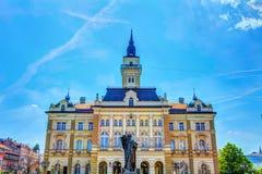 οικοδόμηση της περίστυλης αίθουσας Ουγγαρία πόλεων Στοκ Φωτογραφίες