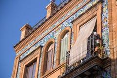Οικοδόμηση της πρόσοψης σε Triana, Σεβίλη Στοκ φωτογραφία με δικαίωμα ελεύθερης χρήσης