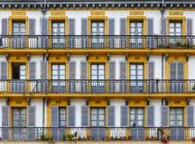 Οικοδόμηση της πρόσοψης στο San Sebastian, Ισπανία Στοκ Εικόνες