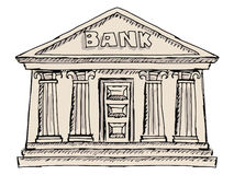 Οικοδόμηση της τράπεζας Στοκ Φωτογραφία