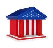 Οικοδόμηση της American Bank που απομονώνεται απεικόνιση αποθεμάτων