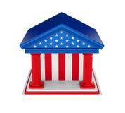 Οικοδόμηση της American Bank που απομονώνεται διανυσματική απεικόνιση