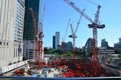 Οικοδόμηση του επιχειρησιακού εργοτάξιου οικοδομής στη Μπανγκόκ Ταϊλάνδη Στοκ φωτογραφία με δικαίωμα ελεύθερης χρήσης