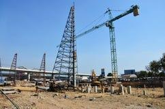 Οικοδόμηση του εργοτάξιου οικοδομής στην Ταϊλάνδη Στοκ εικόνα με δικαίωμα ελεύθερης χρήσης