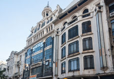 οικοδόμηση του ιστορικού Μοντεβίδεο Ουρουγουάη Στοκ φωτογραφία με δικαίωμα ελεύθερης χρήσης