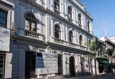 οικοδόμηση του ιστορικού Μοντεβίδεο Ουρουγουάη Στοκ εικόνα με δικαίωμα ελεύθερης χρήσης
