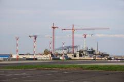 Οικοδόμηση του νέου αερολιμένα Στοκ φωτογραφία με δικαίωμα ελεύθερης χρήσης