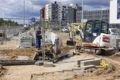 Οικοδόμηση του νέου η υπόγεια διάβαση πεζών Στοκ φωτογραφία με δικαίωμα ελεύθερης χρήσης