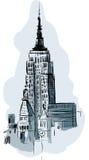 οικοδόμηση του νέου κράτους ΗΠΑ Υόρκη του Μανχάτταν αυτοκρατοριών Στοκ φωτογραφίες με δικαίωμα ελεύθερης χρήσης